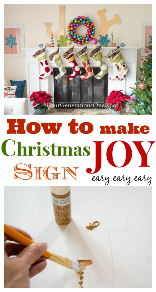 how to make a chrismtas joy sign