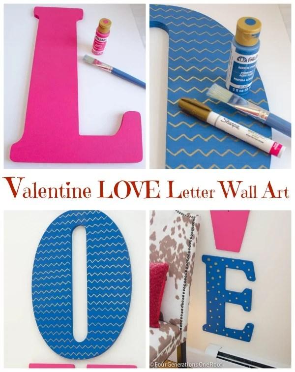 DIY Valentine wall art Love Letters