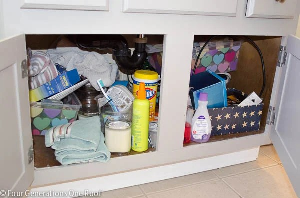 bath cabinet organizational projet
