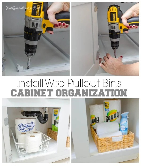 bath cabinet organizational project