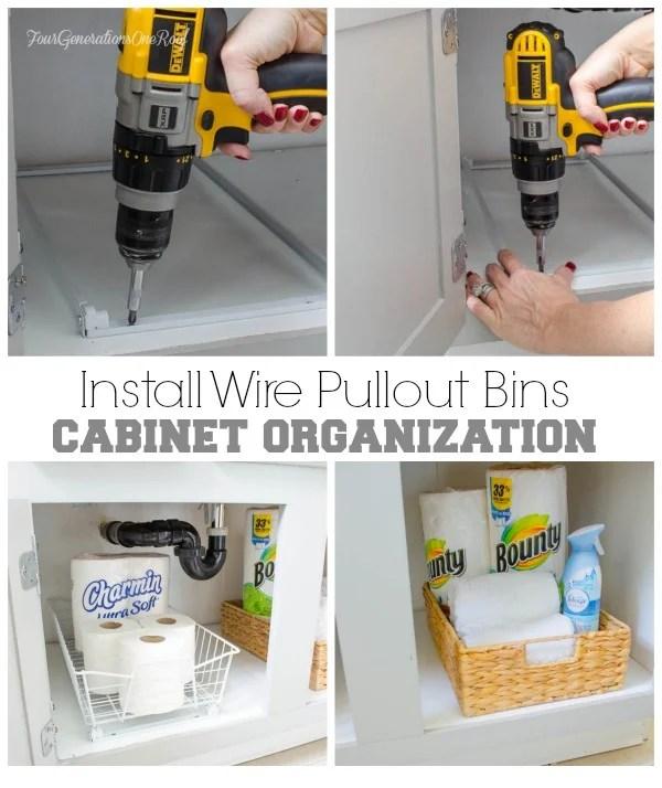 bath cabinet organizational project