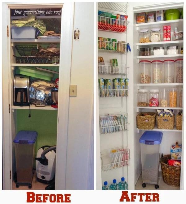 organized kitchen pantry closet