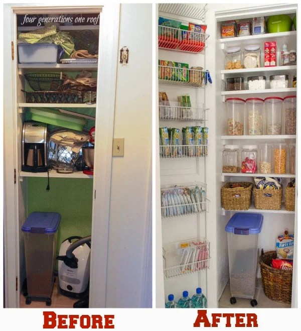 organized kitchen pantry closet