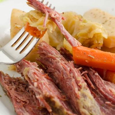 Mom's Corned Beef & Cabbage {crockpot}