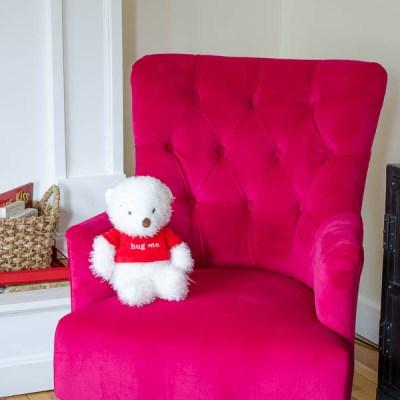 I heart Fuchsia {our new chair}