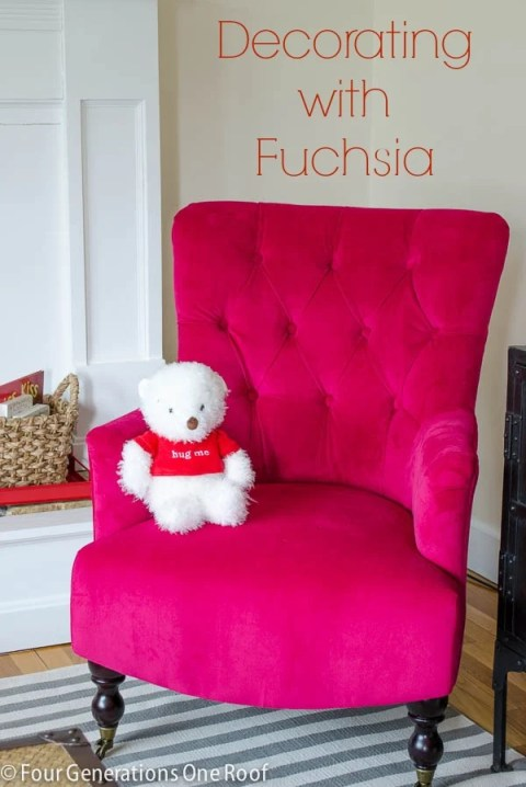decorating with fuchsia