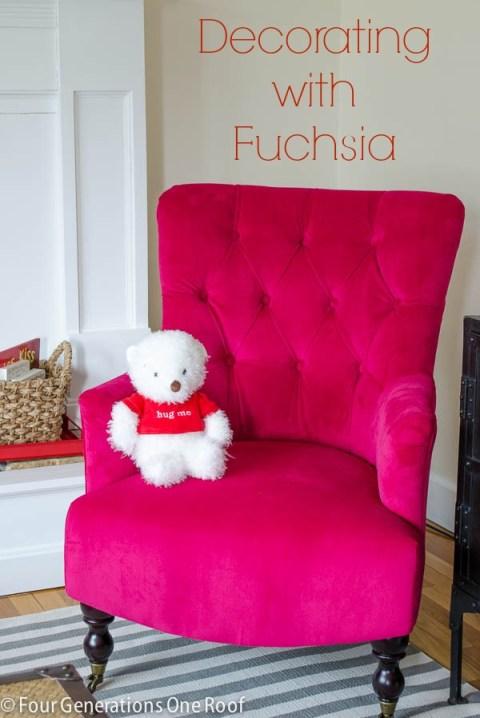 decorating with fuchsia