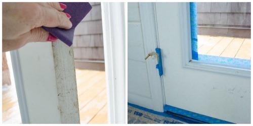 How to paint a door {interior door makeover}