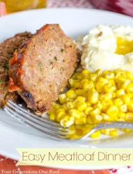 easy meatloaf {sugar free topping}