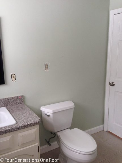 master bathroom makeover {before & After} www.fourgenerationsoneroof.com #SWPaintingweek