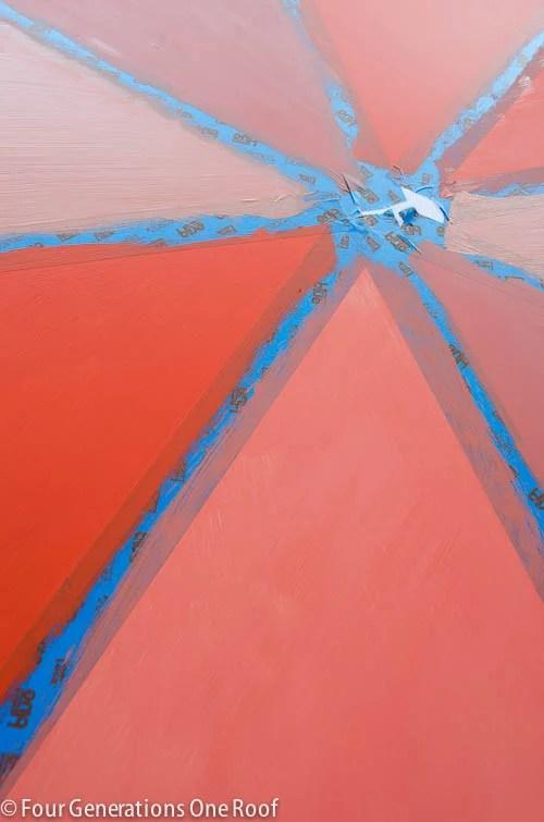 orange ombre wall art-9