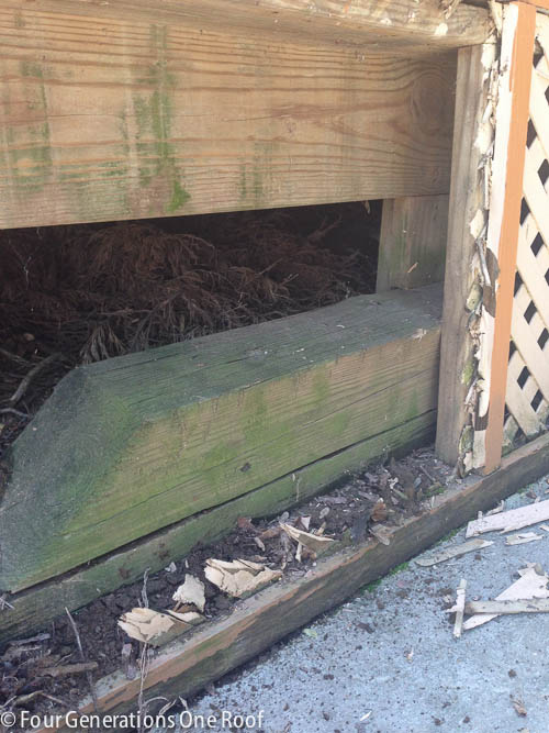 Deck repair + ripping out old lattice-3