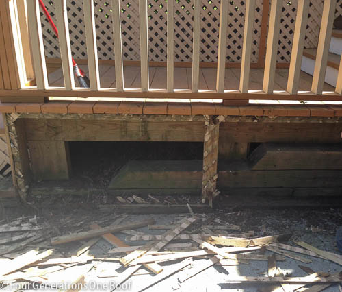 Deck repair + ripping out old lattice-7