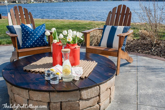 diy fire pit with table