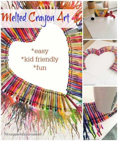 melted crayon art {tutorial} www.fourgenerationsoneroof.com