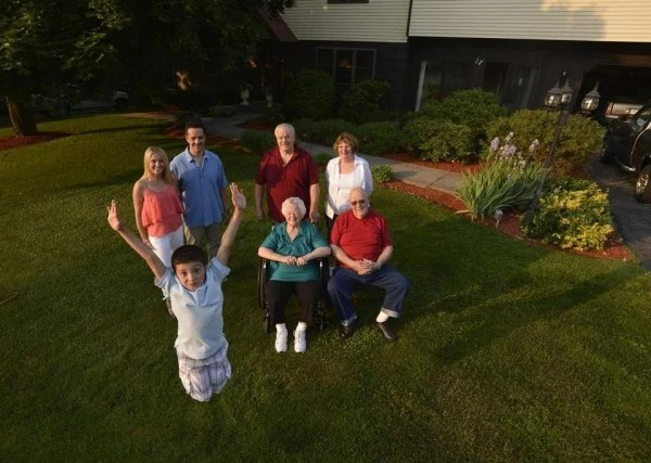 Boston Globe Four Generations One Roof Baby Boomer Sandwich Generation