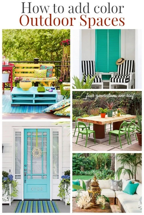 how to add color - colorful outdoor accents