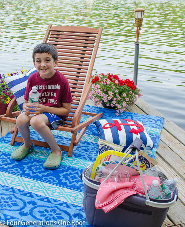 summer picnic on the dock
