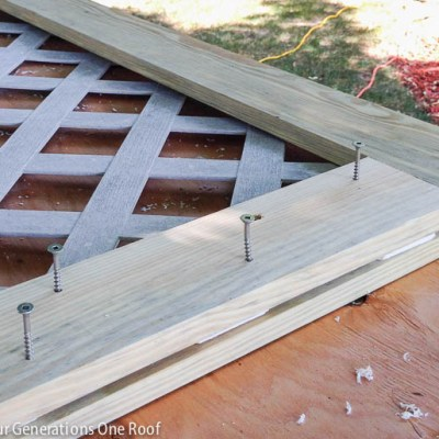 diy lattice privacy screen hide garbage can