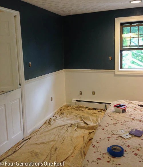 blue master bedroom paint progress-4