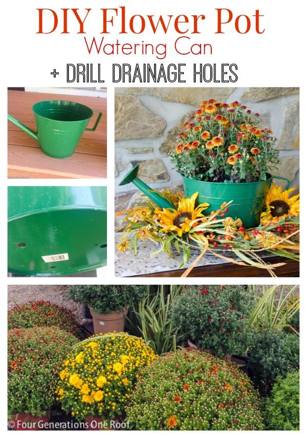 DIY flower pot watering can