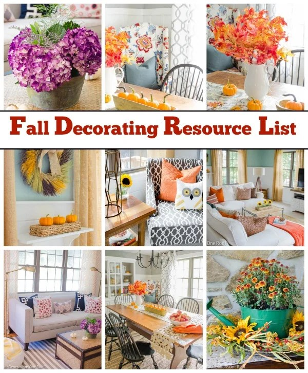 fall decorating resource list