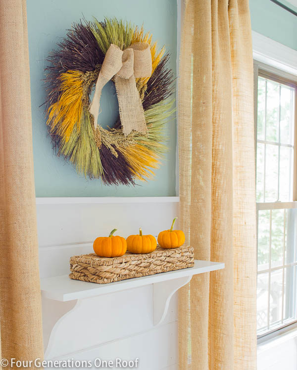 how to create a shelf fall vignette