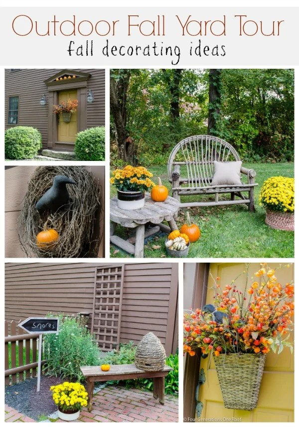 outdoor fall decorating yard tour