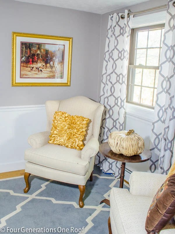 gorgeous small living room makeover gray + white