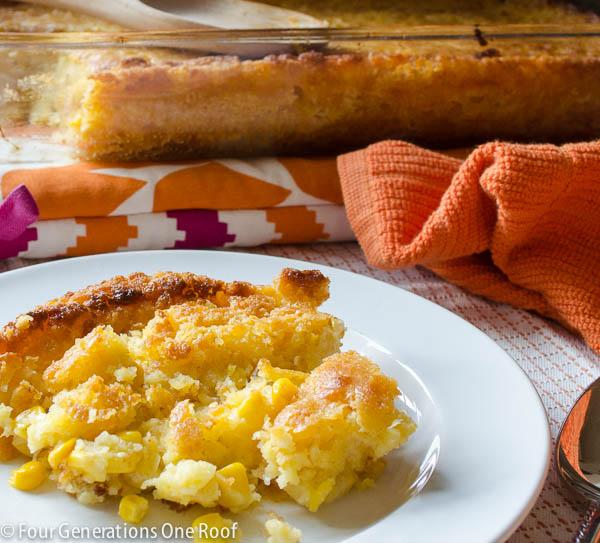 Delicious corn bread casserole