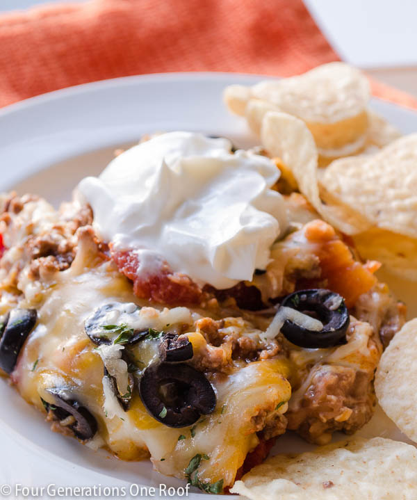 Quick & Easy Mexican Layer Hot Cheese Dip