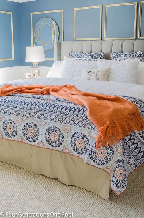 Gorgeous Navy blue master bedroom makeover -3