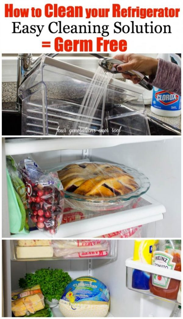 How to clean your refrigerator + easy cleaning solution = germ free