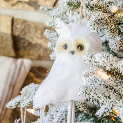 Our Frosted Fraser Fir Christmas Tree {owls}