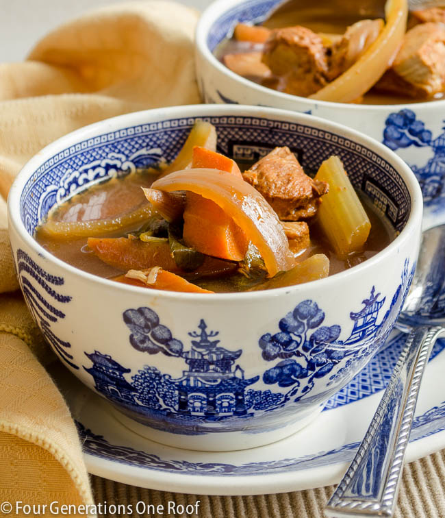 So delicious! Crock pot chicken stew