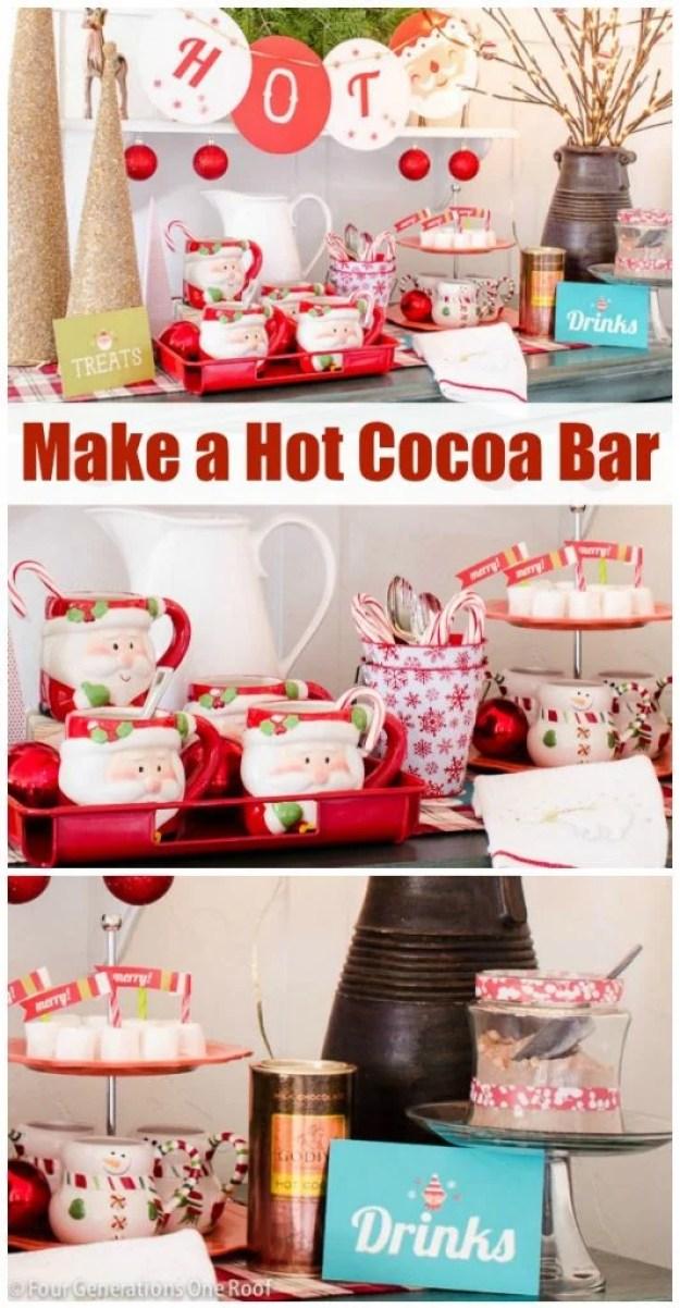 how to make a hot chocolate bar