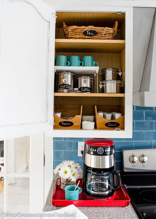 DIY Coffee Station + coffee cabinet