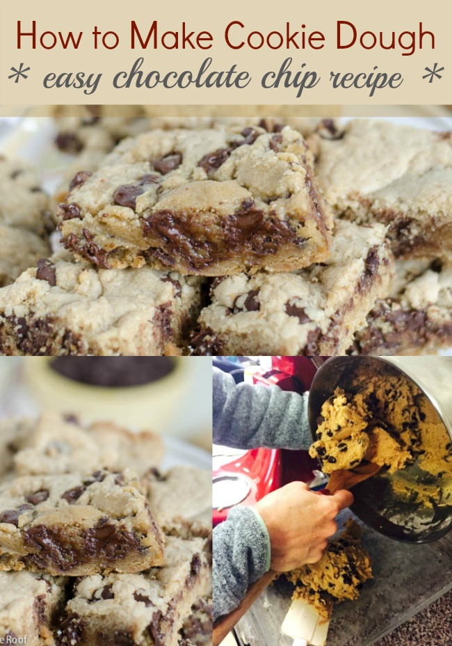 how to make cookie dough / chocolate chip cookie dough bars