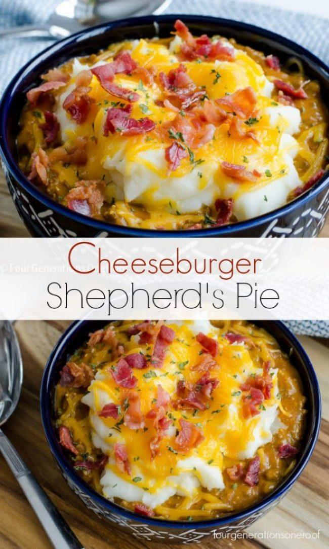 Sweet Potato Shepherd's Pie | Plus an Easy 30 Minute Shepherd's Pie Recipe using Beef | Cheeseburger Shepherd's Pie / Delicious + no bake