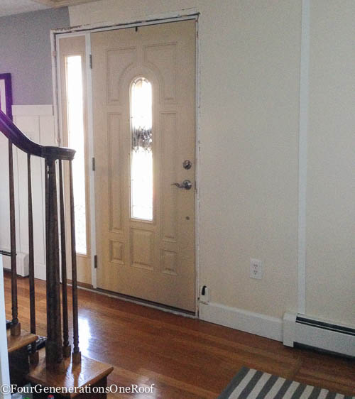 How To- Front door interior trim -2