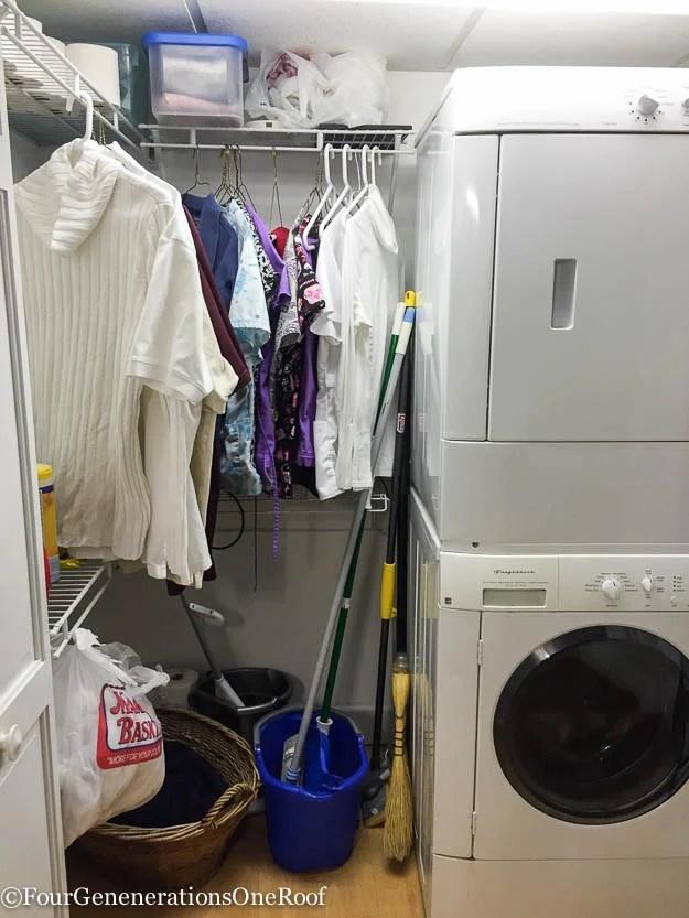 DIY basement laundry room makeover before