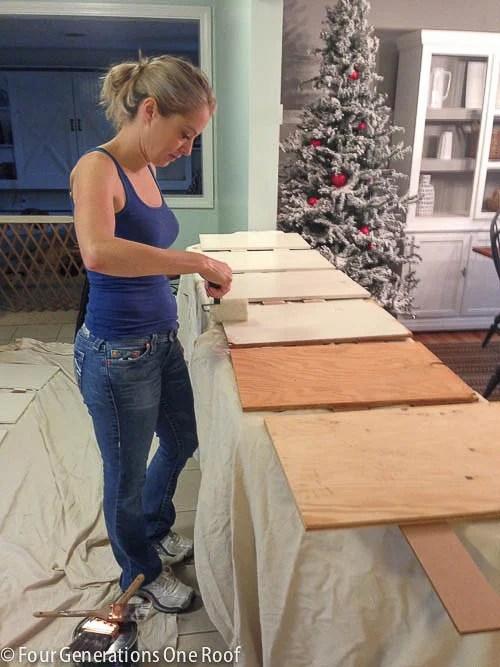 Ikea Hack Vittsjo shelving {spray paint + wooden shelf}