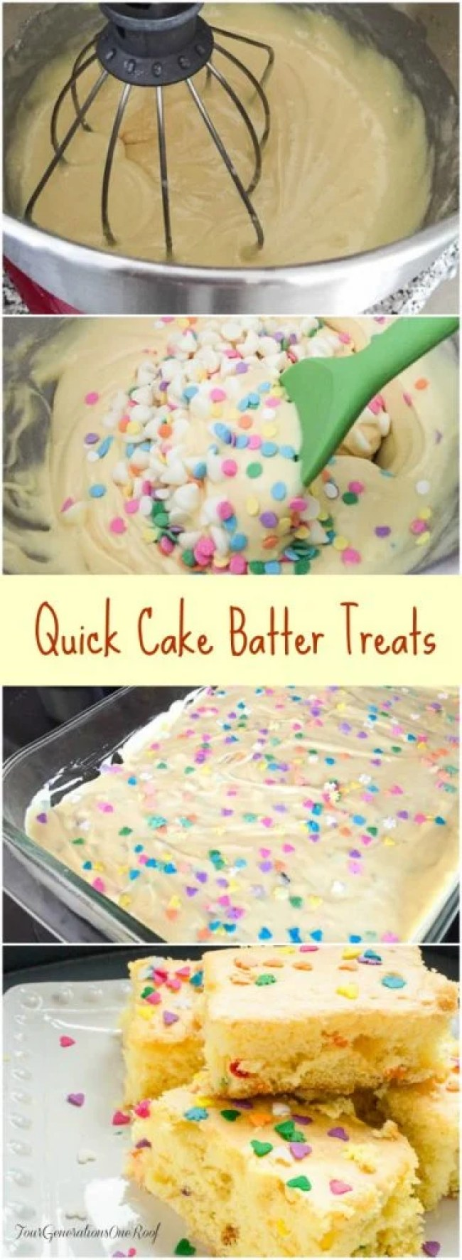 Quick Cake Batter Treats {perfect for Easter}
