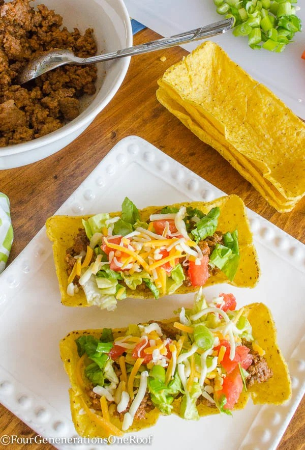 how to make tacos/flat bottom taco shells