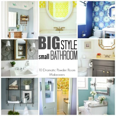TRY THIS: a High Style Half Bath Makeover