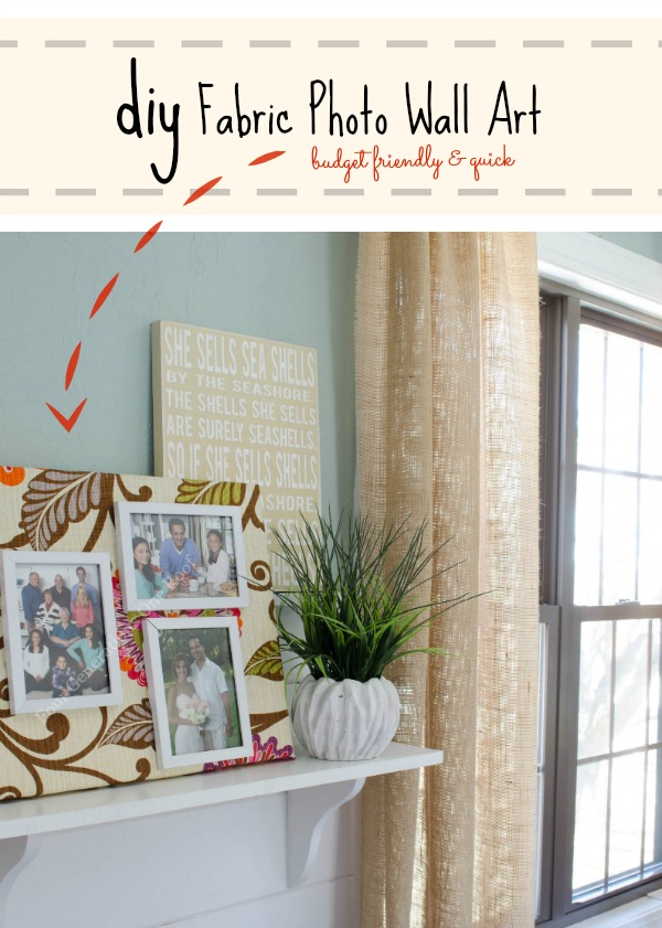 diy fabric photo wall art