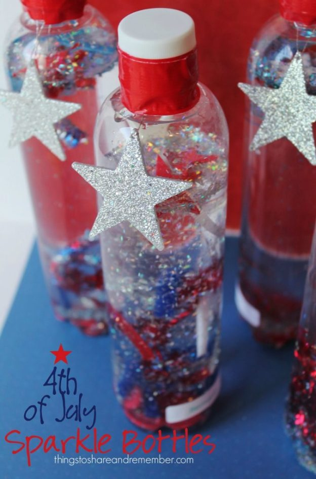 4th-of-July-sparkle-bottles fourth of july party ideas
