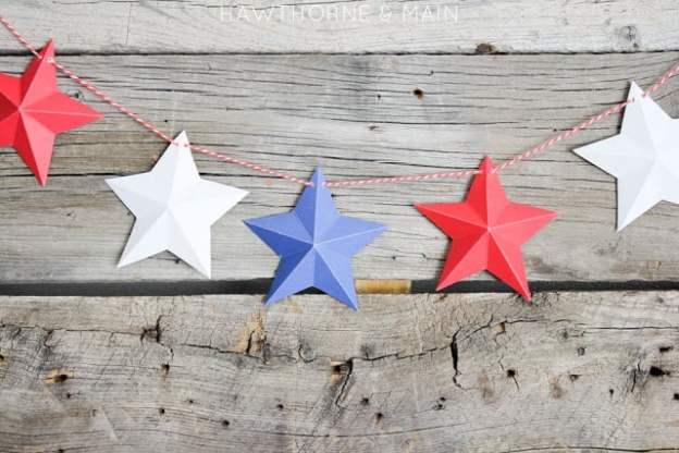 4th of july mini star garland