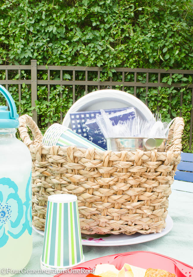 Create a grab and go basket full of summer dining essentials