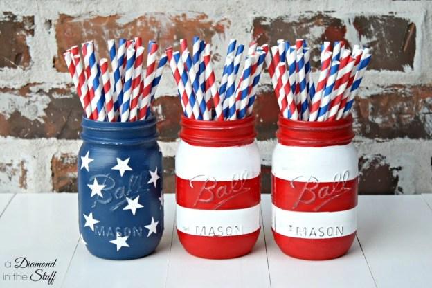 Mason-Jar-Flag-Display fourth of july party ideas